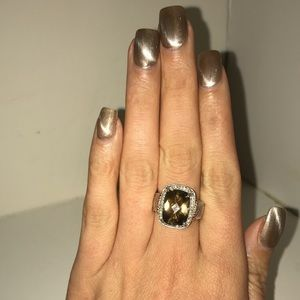 Jewelry - Huge Vintage Ring Smoky Quartz